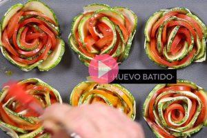 Receta! – Rosas saladas de zuchinni
