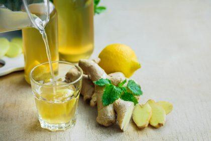 Agua de Jengibre y Limón